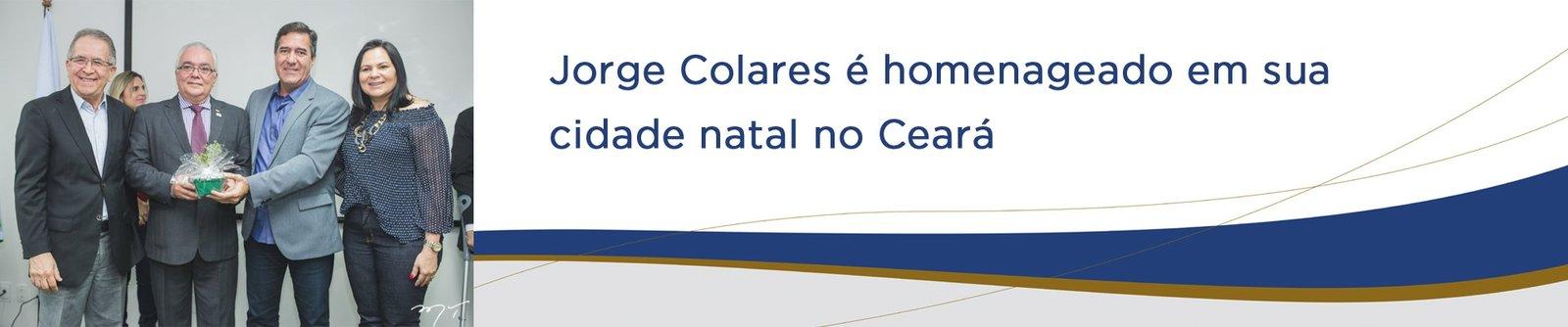 Ex vice-presidente da Fecomércio-PA, Jorge Colares é homenageado em sua cidade natal no Ceará